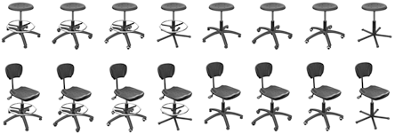 16 SystemPro Black chairs