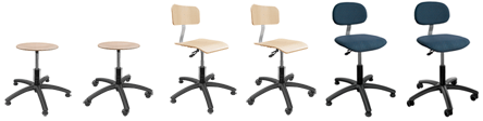 Six SystemPro Economy chairs