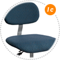 upholstered seat with adjustable backrest